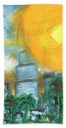 Hot Miami Sky Beach Towel
