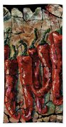 Hot Pepper Fresco Beach Towel