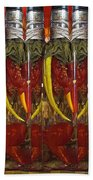 Hot Pickled Peppers Beach Towel