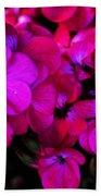 Hot Pink Florals Beach Towel