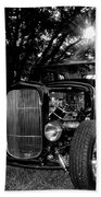 Hot Rod - Ford Model A Beach Towel