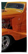 Hot Rod Orange Beach Towel