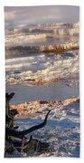 Mammoth Hot Springs One Beach Towel