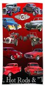 Car Show And Shine Poster Beach Towel