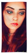 Hot Youth Beauty Rebellion Alexis Burleson Signed Beach Towel