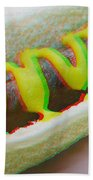 Hotdog - Use Red-cyan 3d Glasses Beach Towel