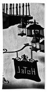 Hotel Sign - Reality And Shadow Beach Towel