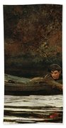 Hound And Hunter Beach Towel by Winslow Homer