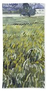 House At Auvers Beach Towel
