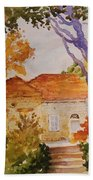 House Beside Mountain Beach Towel