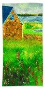 House By The Field Beach Towel