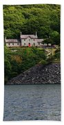 House By The Llyn Peris Beach Towel