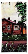 House In Sergiyev Posad   Beach Towel