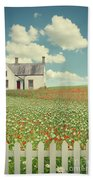 House In The Countryside Beach Towel