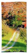 House In The Hills Beach Towel