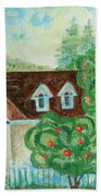House In The Village Beach Towel