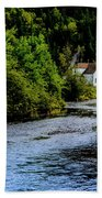 House On Margaree River Beach Towel