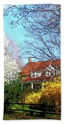 House On The Hill In Spring Beach Towel