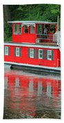 Houseboat On The Mississippi River Beach Towel