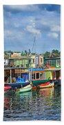 Houseboats - 3 - Lake Union - Seattle Beach Towel