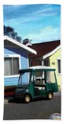 Houses In A Row Beach Towel by Snake Jagger