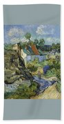 Houses In Auvers Beach Towel