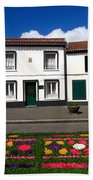 Houses In The Azores Beach Towel