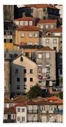 Houses Of Porto In Portugal Beach Towel