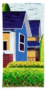 Houses Remastered Beach Towel