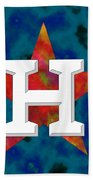 Houston Astros Logo Beach Towel