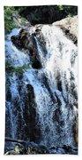 Houston Brook Falls Panorama Beach Towel