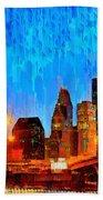 Houston Skyline 110 - Pa Beach Towel