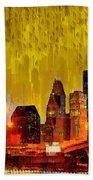 Houston Skyline 111 - Pa Beach Towel