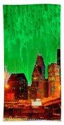 Houston Skyline 112 - Pa Beach Towel