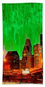 Houston Skyline 115 - Pa Beach Towel