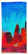 Houston Skyline 131 - Pa Beach Towel