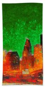 Houston Skyline 133 - Pa Beach Towel
