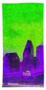 Houston Skyline 43 - Pa Beach Towel