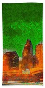 Houston Skyline 48 - Pa Beach Towel