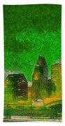 Houston Skyline 49 - Pa Beach Towel