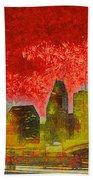 Houston Skyline 50 - Pa Beach Towel