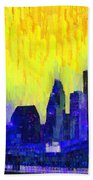 Houston Skyline 83 - Pa Beach Towel