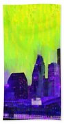 Houston Skyline 84 - Pa Beach Towel