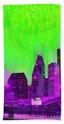 Houston Skyline 85 - Pa Beach Towel