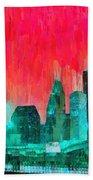 Houston Skyline 91 - Pa Beach Towel