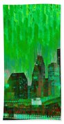 Houston Skyline 96 - Pa Beach Towel