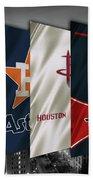 Houston Sports Teams 2 Beach Sheet