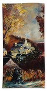 Houyet Village Belgium Beach Towel