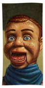 Howdy Doody Dodged A Bullet Beach Towel by James W Johnson