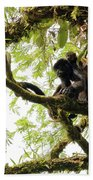 Howler Mother And Child Beach Towel